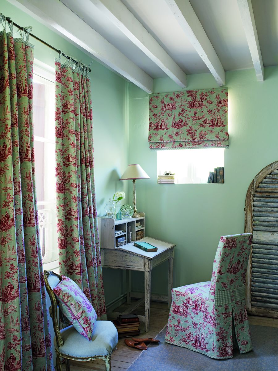 toile de jouy lampe sanderson stoff fr hlich wohnen berlin. Black Bedroom Furniture Sets. Home Design Ideas